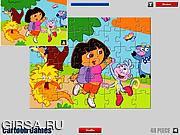 Флеш игра онлайн Дора. Мозайка / Dora Cartoon Jigsaw