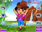 Флеш игра онлайн Дора в поисках приключений / Dora Explorer Adventure