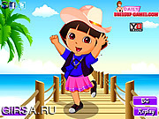 Флеш игра онлайн Дора в поисках приключений / Dora Explorer Adventure Dressup
