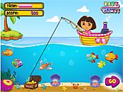 Флеш игра онлайн Dora Fishing 1