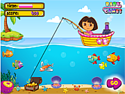 Игра Dora Fishing 1