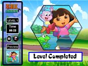 Флеш игра онлайн Пазлы / Dora Fix the Puzzle Game