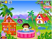 Флеш игра онлайн Веселые купания Даши / Dora Fun Bathing