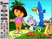 Флеш игра онлайн Даша. В поисках чисел / Dora Hidden Number