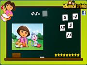 Флеш игра онлайн Dora Math Game