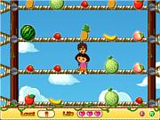 Флеш игра онлайн Урожай Доры / Dora Pick Fruits