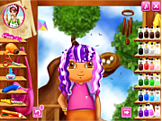 Флеш игра онлайн Прическа Доры / Dora Real Haircuts