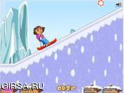 Флеш игра онлайн Дора катается на лыжах