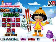 Флеш игра онлайн Дора на лыжах / Dora Skiing Dressup