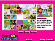 Флеш игра онлайн Дора Раздвижные Пазлы / Dora Sliding Puzzle