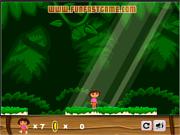 Флеш игра онлайн Дора - супер-охотница за сокровищами / Dora the Super treasure hunter