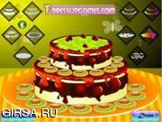 Флеш игра онлайн Двухслойный торт / Double layer cake decor