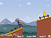 Флеш игра онлайн Трюковой спуск / DownHill Stunts