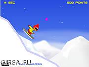 Флеш игра онлайн Покатые скачки / Downhill Jumps