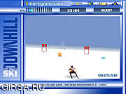 Флеш игра онлайн На Лыжах Горных / Downhill Skii