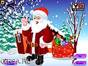 Флеш игра онлайн Одень Санта Клауса / Dressup Santa Claus