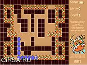 Флеш игра онлайн Веселая змейка