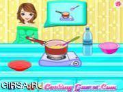 Флеш игра онлайн Паста с тыквой / Elina Cooks Pumpkin Pasta