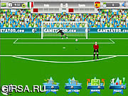 Флеш игра онлайн Евро-2012 - Свободный удар / Euro 2012 Free Kick