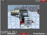 Флеш игра онлайн Экстремальные Дальнобойщики Головоломки / Extreme Truckers Puzzle