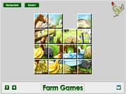 Флеш игра онлайн Сельскохозяйственных Животных, Раздвижные / Farm Animal Sliding