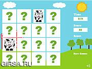 Флеш игра онлайн Farm Animals Memory Game