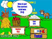 Флеш игра онлайн Farm Stand Math