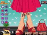 Флеш игра онлайн Модный педикюр / Feet Nails Fashion