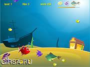Флеш игра онлайн Рыбные хрустики