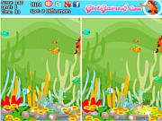 Флеш игра онлайн Подводное царство. Найдите отличия / Five Differences With Fish