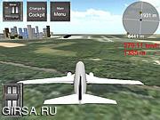 Флеш игра онлайн Симулятор Полета Boeing 737-400 SIM-Карты