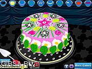 Флеш игра онлайн Цветочный торт
