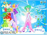 Флеш игра онлайн Цветок и маленькая принцесса одеваются