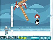 Флеш игра онлайн Летающие пингвины / Flying Penguins