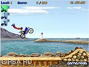 Флеш игра онлайн Мотогонка