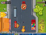 Флеш игра онлайн Сражение на грузовиках / Food Battle Truck