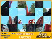 Флеш игра онлайн Свободная птичка. Пазл / Free bird puzzle