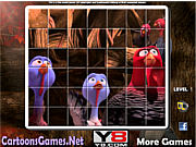 Флеш игра онлайн Вольные Птицы Спин Головоломки / Free Birds Spin Puzzle