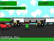 Флеш игра онлайн 3D Frogger