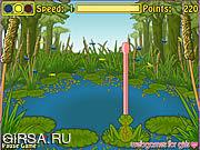Флеш игра онлайн Froggie The Fly Catcher