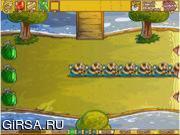 Флеш игра онлайн Фрукты / Fruit Defense