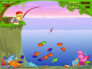Флеш игра онлайн Смешная рыбалка
