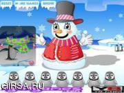 Флеш игра онлайн Забавный Снеговик / Funny Snowman