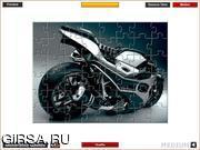 Флеш игра онлайн Мотоцикл будущего / Future Motorbike Jigsaw