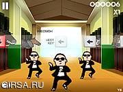 Флеш игра онлайн Обучение танцу Гангнам