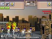 Флеш игра онлайн Вражеская база / GUNROX - Gang Wars