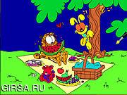 Флеш игра онлайн Гарфилд. Раскраска / Garfield Online Coloring