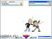 Флеш игра онлайн Gates vs. Jobs - The Game