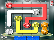 Флеш игра онлайн Драгоценные линии / Gemlink