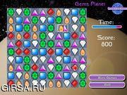 Флеш игра онлайн Подбери пару - Ювелирная планета / GemsPlanet